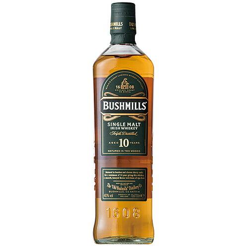 敬老の日 誕生日 マーケット ギフト 業務用にも最適 ウイスキー おしゃれ ブッシュミルズ シングルモルト 並行品 10年 洋酒 Whisky 700ml 37-0 70907