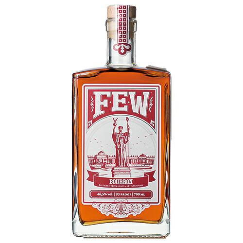 敬老の日 誕生日 ギフト 業務用にも最適! ウイスキー FEW (ヒュー) バーボンウイスキー 700ml (71492) 洋酒 Whisky(74-3)