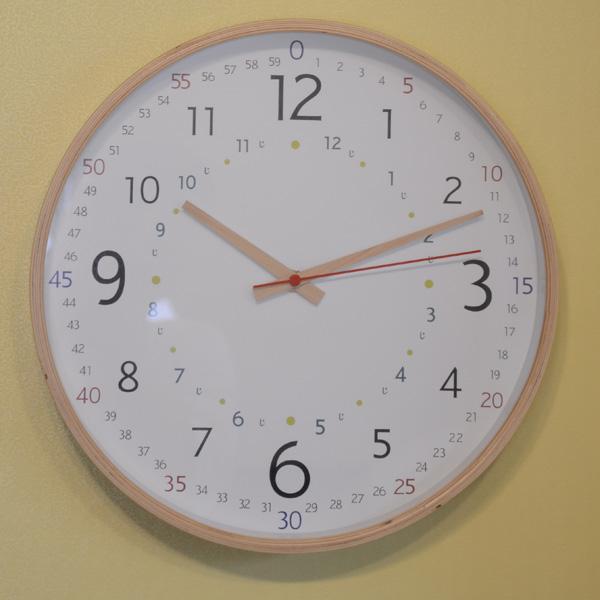 知育時計パスレル【壁/掛け時計/掛時計/かけ時計/クロック/デザイン/おしゃれ/ナチュラル/木製/】