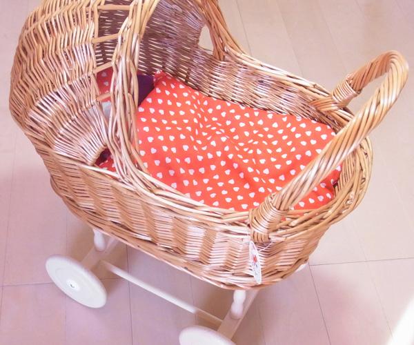 柳の乳母車【おしゃれ/かわいい/子供部屋/ギフト/プレゼント/天然素材】