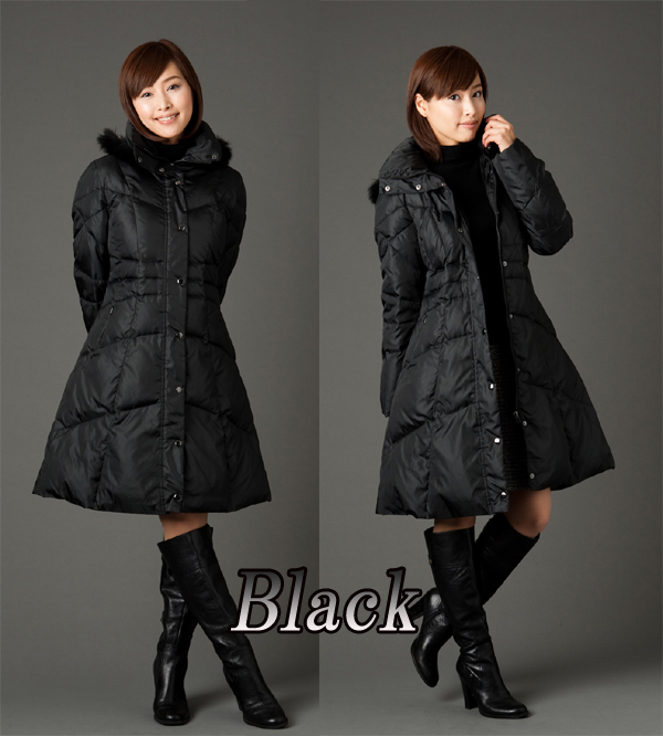 Price down ↓ Rakuten ranking 1st place! By 2015, new soft A line the ultimate beauty line jacket luxury down long coat S / M / L / LL / 3 L / luxury FOX fur black Mocha beige purple stock next day arrive on the same day shipping for P 15 Aug15 P23Jan16