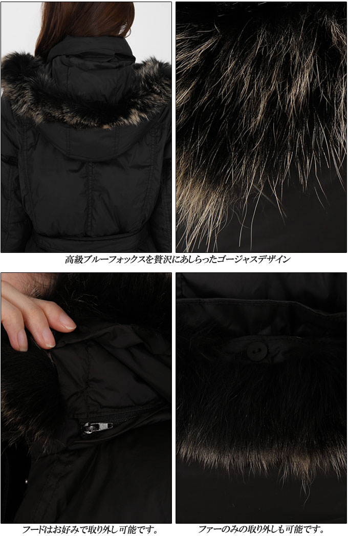 90% down luxury blue fox fur lightweight luxury down coat / Down / M / L / luxury Blue Fox Fur black ivory beige Orange magenta down coat / down / coat / down coat / fur / fur / delivery on the same day shipping 05P24Dec15