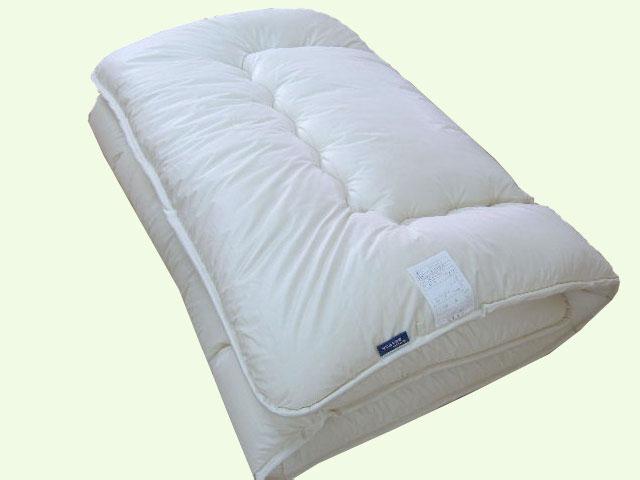 高級フランス産羊毛綿100%ベッドパット シングルサイズ