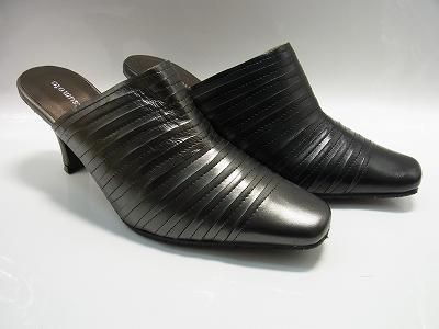 yuriko matsumoto | Rakuten Global Market: Black mules heels swimming elegance leather mules and their cod number included yuriko matsumoto