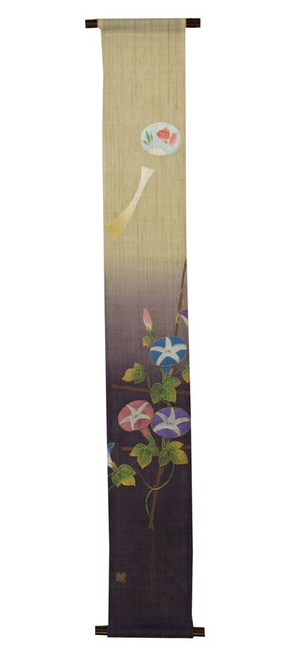 小幅タペストリー・風鈴と朝顔/ 四季のタペストリー(夏 タペストリー)