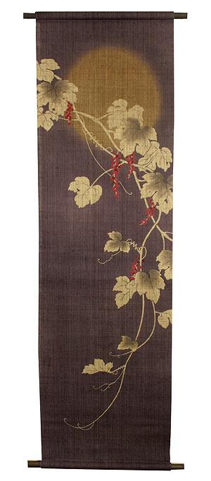 和風タペストリー・山葡萄 /秋 タペストリー/ 和モダン タペストリー