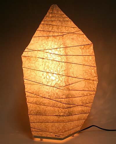 和紙の灯り・氷石L  【インテリア照明】【和風スタンドライト】【間接照明】
