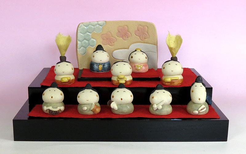 雛人形 ひな祭り /ちっちゃい雛三段飾り(雛人形)