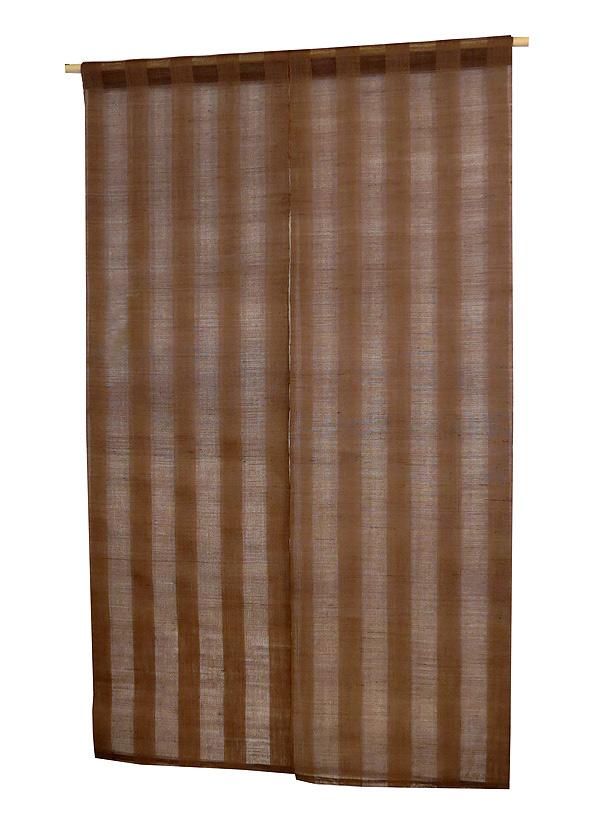 のれん・柿渋透かし織(手織り本麻 暖簾) サイズオーダーのれん のれん棒別売り