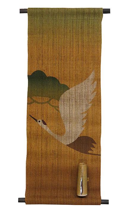 花器付きタペストリー・飛び鶴