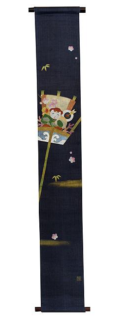 新春タペストリー・招福くまで/ 和モダン タペストリー