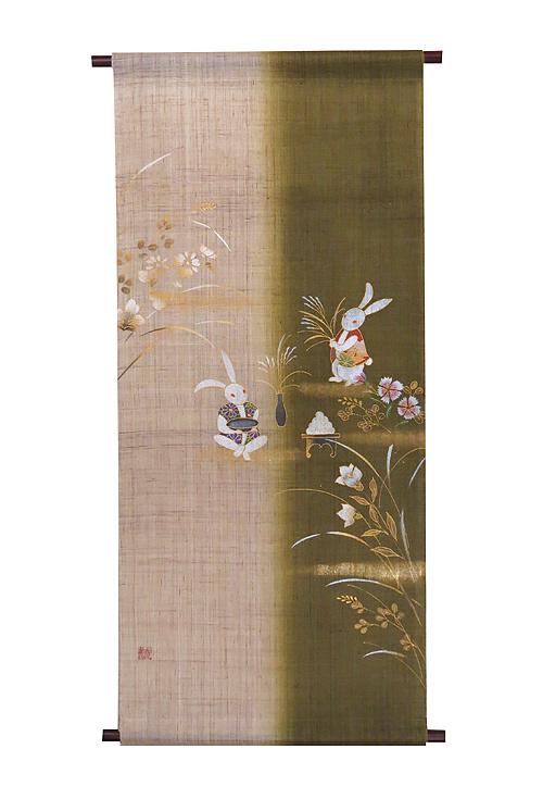タペストリー:お月見支度/ 四季のタペストリー /秋 タペストリー