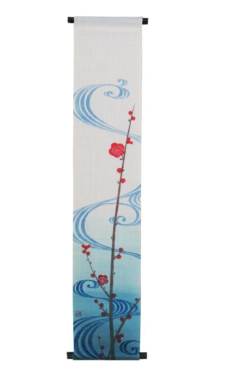 大人気! 手描タペストリー花鳥風月の世界 小幅タペストリー 2020 新作 20%off 流水に梅