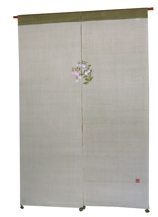 和風風音暖簾(のれん):蛍袋