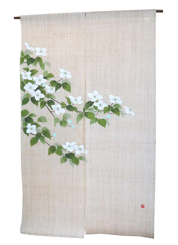 和風 暖簾(のれん): 山法師