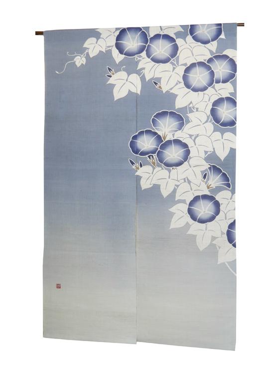 和風 暖簾(のれん):大輪朝顔/ 京都 洛柿庵