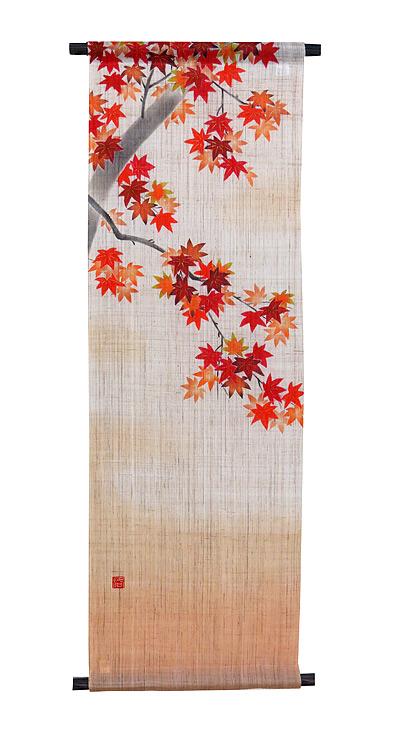 和風タペストリー・紅葉の宴 (和柄)/ 和モダン タペストリー (秋 タペストリー)