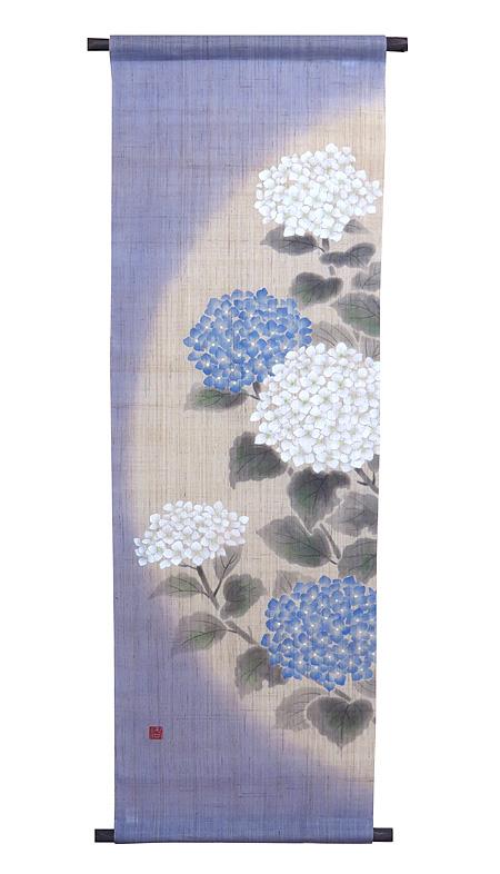 和風タペストリー・てまり紫陽花 (和モダン)(夏 タペストリー)