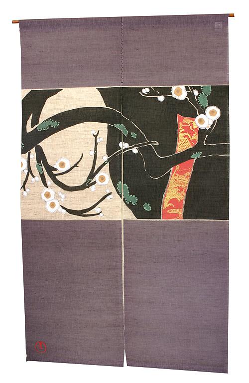 【即納&大特価】 神坂雪佳のれん・梅  のれん棒別売り, 二木ゴルフ:051e0a5d --- totem-info.com