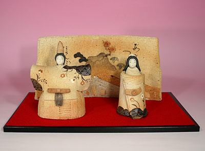 雛人形 ひな祭り /滝上真由美陶雛・古代(雛人形)【親王飾り】 (陶器)