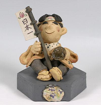 端午の節句 五月人形 端午の節句人形・桃太郎六角台 ■陶器