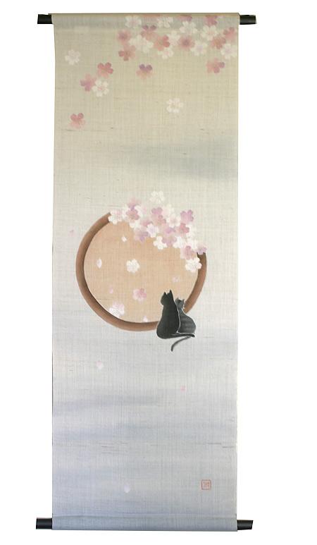 麻 桜 タペストリー:夢見草2(桜)受注製作