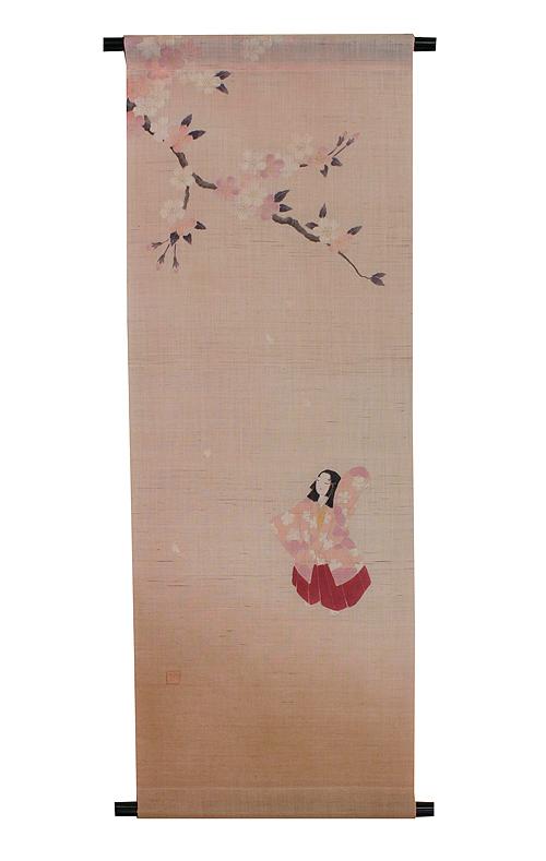 麻 桜 タペストリー:花衣(受注製作)