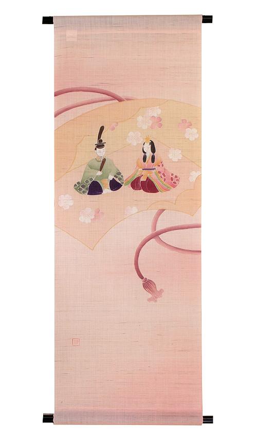 雛人形 ひな祭り /麻タペストリー:雛の宴(受注製作)雛祭り
