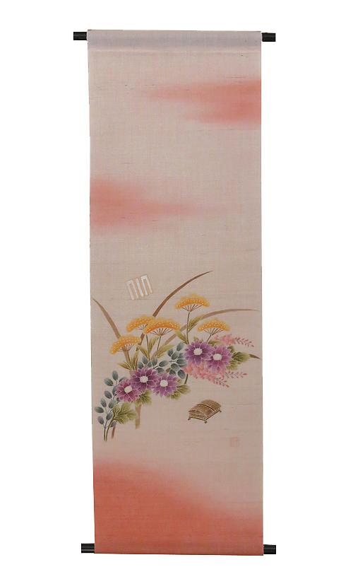 麻タペストリー:源氏香 野分 /秋 タペストリー(受注製作)