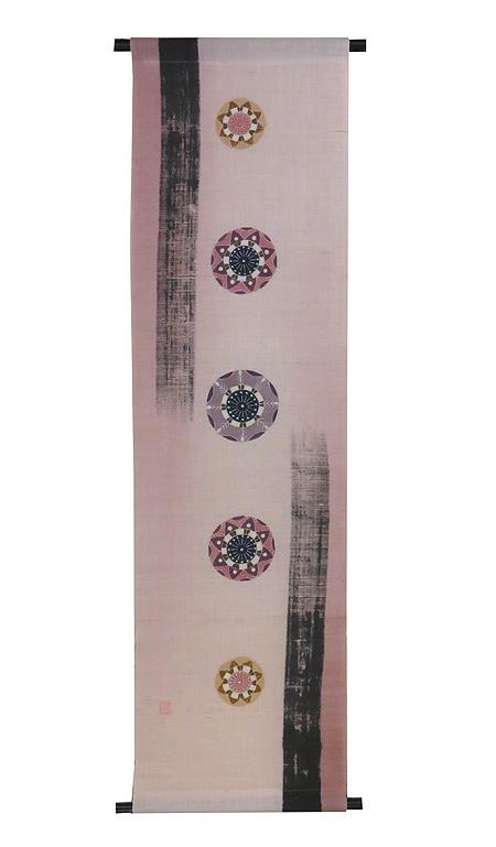 麻タペストリー:時のはざま(桜)受注製作