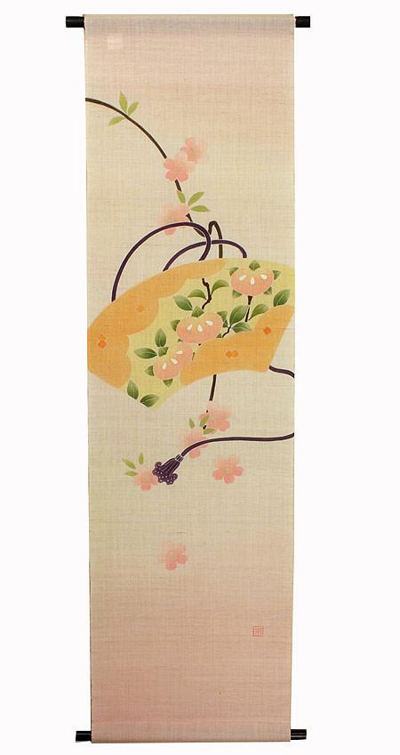 麻 桜 タペストリー:桜と橘(受注製作)