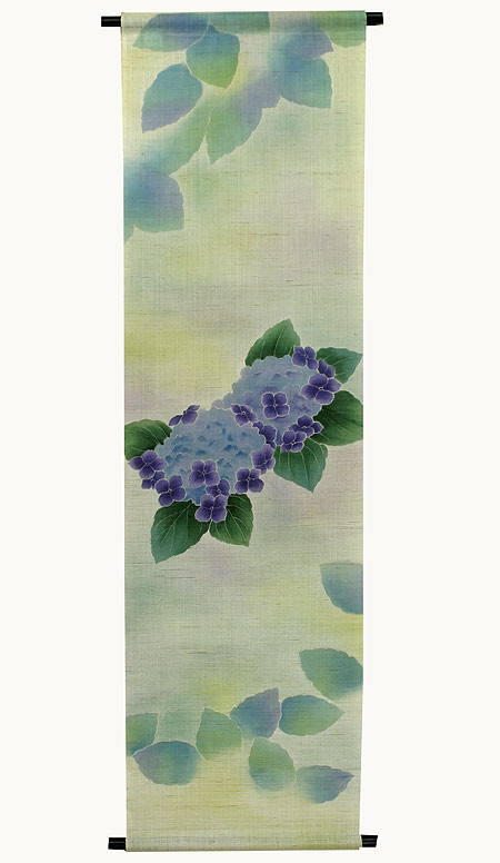 麻タペストリー:紫陽花(受注製作)(夏 タペストリー)