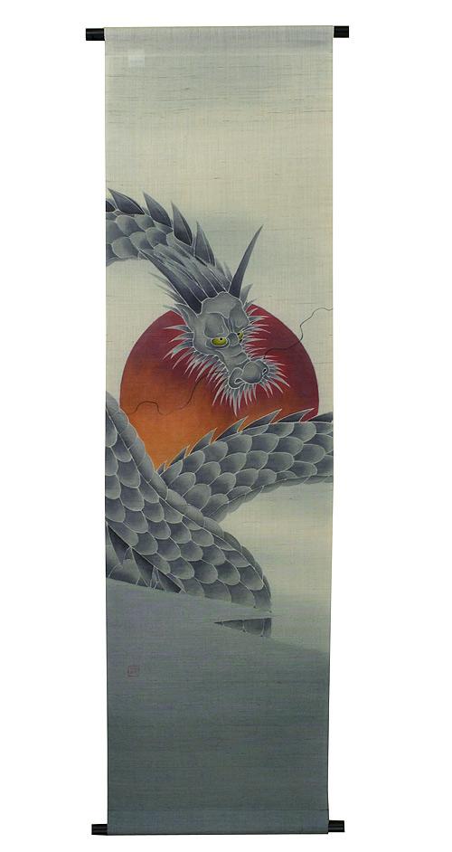 麻タペストリー:青龍(受注製作)