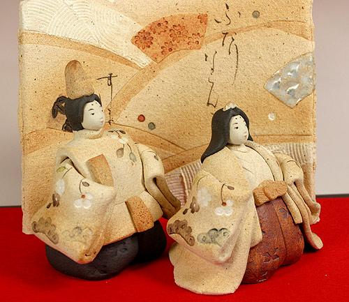 雛人形 ひな祭り /滝上真由美陶雛・扇(雛人形)【親王飾り】 (陶器)