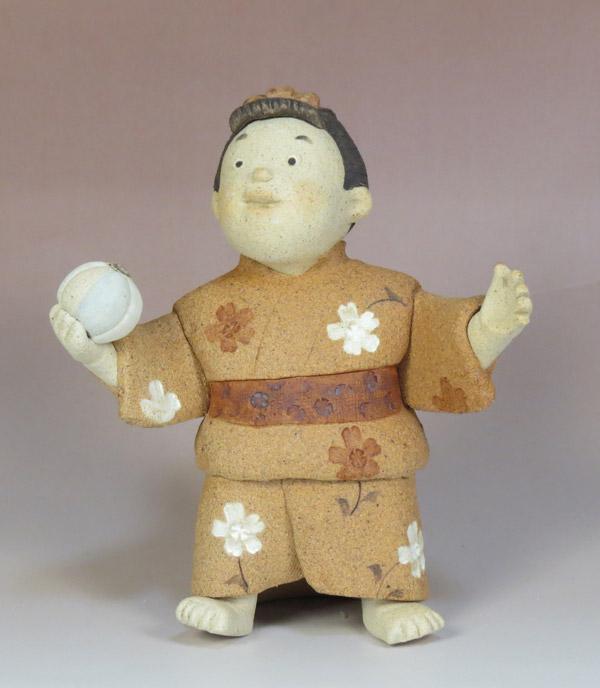わらべ人形・毬(滝上真由美) (陶器)
