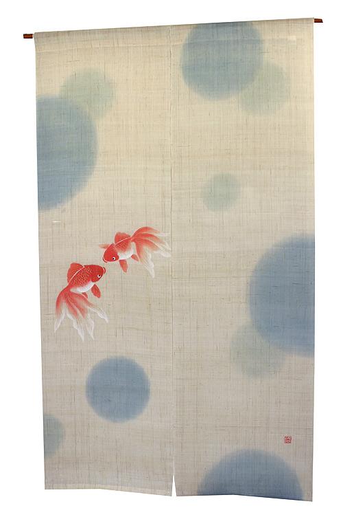 季節の彩を のれん に描いた和風のれん 和風暖簾 メーカー取り寄せ品 :水玉金魚 舗 夏のれん 正規取扱店