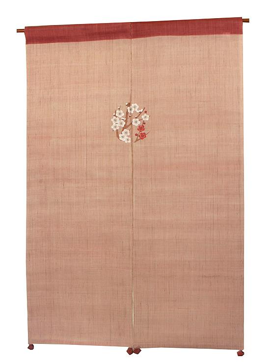 風音 麻暖簾(のれん):梅丸紋/ 京都 洛柿庵
