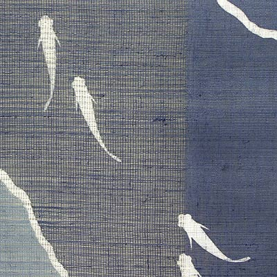 Japanese-style hemp noren, killifish (noren)
