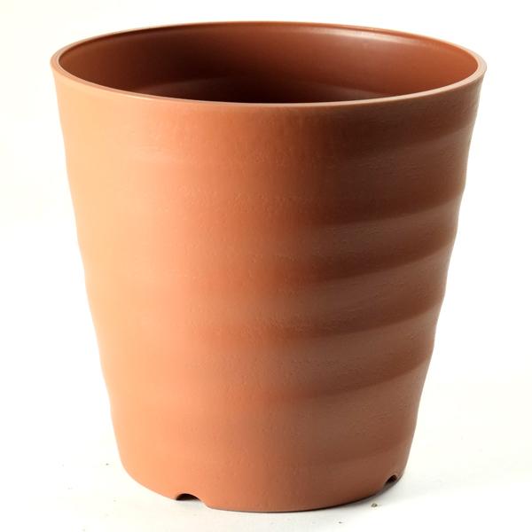 プランター 植木鉢 シンプル おしゃれ 激安超特価 かわいい ナチュラル 無地 定番 茶色厚手のプラスチック鉢で安定感のある鉢 鉢 18型 新着 ブラウン フレグラーポット カバー 大和プラスチック