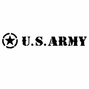 カーウインドウ用ディスプレイに インテリアに U.S. ARMY 0103 ANP 腐食バージョン 大判Lサイズ 2枚組 ハンドメイド 入手困難 米軍モチーフ 無料サンプルOK カッティングステッカー デカール 幅約28cm×高約5.1cm