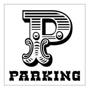 【ショップ用パーキング 片面パネル看板・サイズ45×45cm・JFR PARKING 駐車場案内看板】ウエスタンアメリカな書体でデザインした駐車場サインパネル。ハンドメイド 英語看板 パネル サイン 駐車場 ショップ用 アメリカン看板 西部