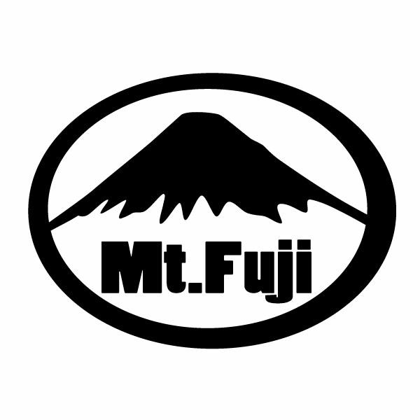 人気激安 WEB限定 カーウインドウ用ディスプレイに インテリアに Mt.Fuji 富士山 静岡側モチーフ 幅約16cm×高約12cm 01 ハンドメイド 2枚組 カッティングステッカー