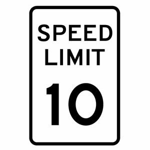 カーウインドウ用ディスプレイに インテリアに カッティングステッカー アメリカ スピードリミット10マイル ギフト 道路標識 ミニサイズ 幅約6.5cm×高約10cm トラフィックサイン ウインドウステッカー ハンドメイド おしゃれ SPEED 3枚組 LIMIT
