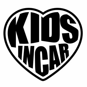 優しい運転 安全運転 お子様のためにペタっと KIDS IN CAR Ver.145 子供が乗っています ハンドメイド 幅約13cm×高約12cm 即納 キッズインカー 2枚組 カッティングステッカー インハート 商品 ウインドウステッカー