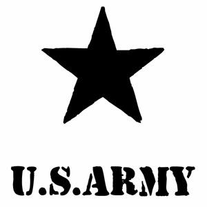 カーウインドウ用ディスプレイに インテリアに U.S. ARMY 019 Bスター腐食調 おすすめ カッティングステッカー 米軍 2枚組 幅約16.5cm×高約17cm アーミー 限定タイムセール アメリカ軍 デカール ハンドメイド