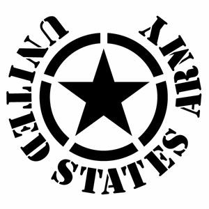 カーウインドウ用ディスプレイに インテリアに UNITED メーカー公式ショップ デポー STATES ARMY 39 米軍モチーフ カッティングステッカー 2枚組 アメリカ軍 アーミー 米軍 ハンドメイド 幅約18cm×高約16.5cm デカール