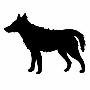 カーウインドウ用ディスプレイに インテリアに 5☆大好評 希望者のみラッピング無料 カッティングステッカー Wolf プレーン ver.39 ウルフ 狼 デカール ハンドメイド 幅約26cm×高約19.5cm 2枚組 大判Lサイズ