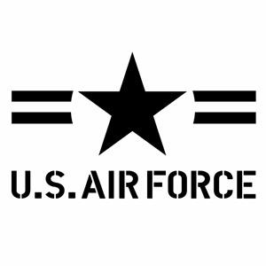 カーウインドウ用ディスプレイに インテリアに U.S. 人気の製品 AIR FORCE ver.063 送料無料 新品 ステンシル カッティングステッカー 幅約29cm×高約17.4cm ハンドメイド 大判Lサイズ 2枚組 エアーフォース デカール アメリカ空軍モチーフ