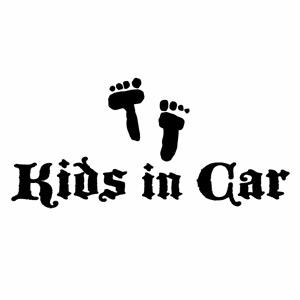 優しい運転 安全運転 お子様のためにペタっと Kids in Car Ver.98 子供が乗っています ウインドウステッカー カッティングステッカー ハンドメイド 最安値 2枚組 幅約16cm×高約7.5cm フットスタンプ キッズインカー 園児タッチ 送料無料 新品