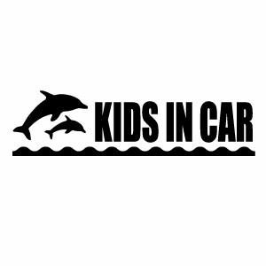 優しい運転 安全運転 お子様のためにペタっと KIDS 本物 IN CAR KDP 0275 2枚組 大決算セール カッティングステッカー 車用ステッカー イルカモチーフ キッズインカー 幅約18.5cm×高約5cm 子供が乗っています ハンドメイド